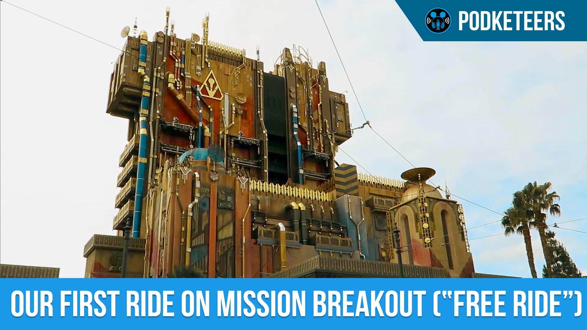 "First ride on Guardians of the Galaxy: Mission Breakout (""Free Ride"")!!"