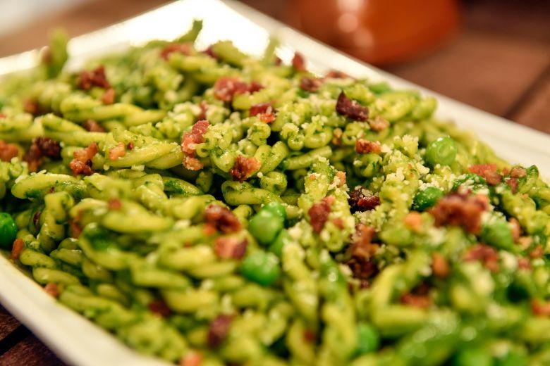 Toy Story-inspired Green star pesto pasta