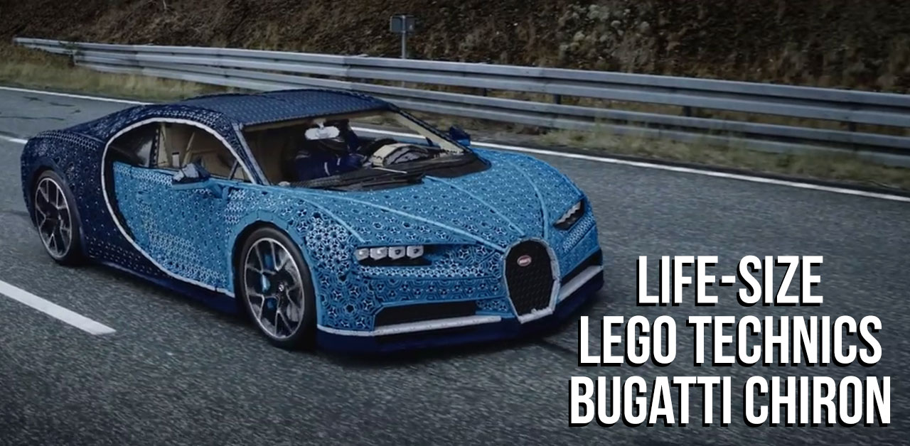 Bugatti Chiron built from LEGO Technic!