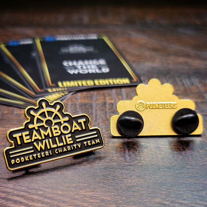 Teamboat Willie Limited Edition Gold Pin